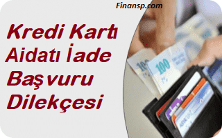 Kredi Kartı Aidatı İade Başvuru Dilekçesi